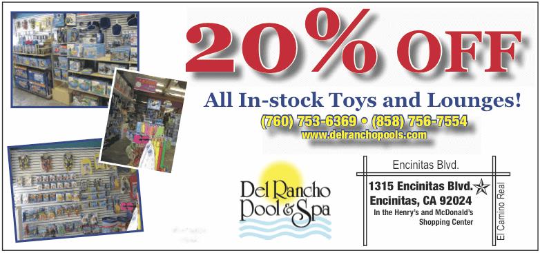 Del Rancho Pools - Store Specials